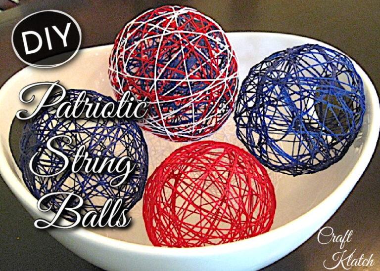 Patriotic String Balls DIY