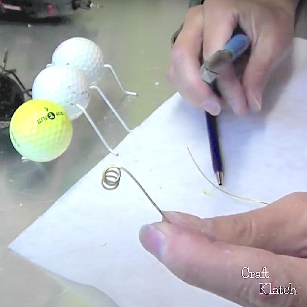 Twist wire to make antennae