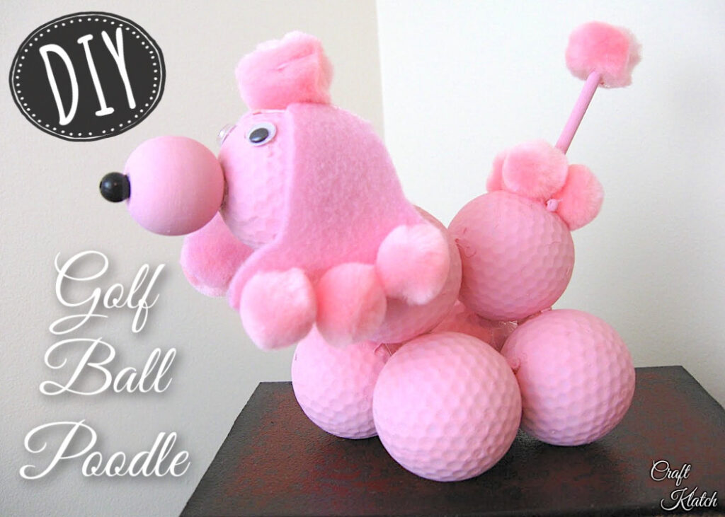 pink golf ball poodle diy