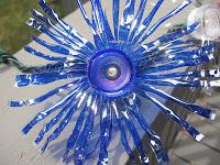 Blue fireworks twinkle lights DIY