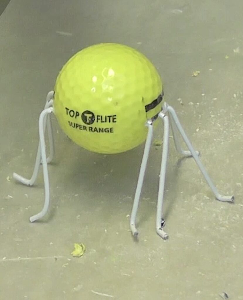 golf ball spider not painted