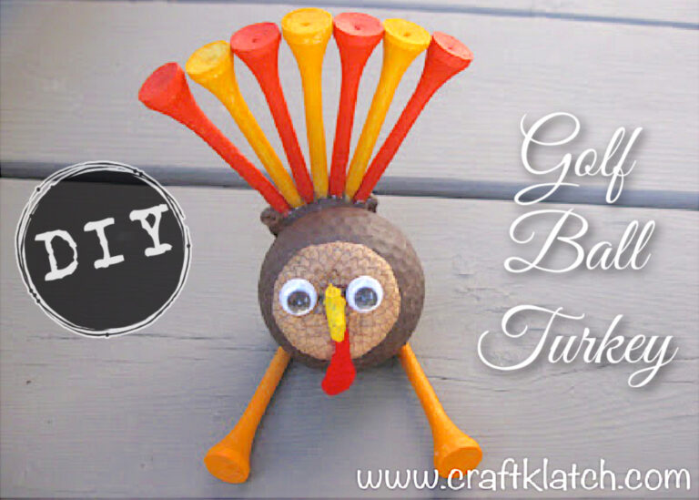 How to make a turkey for Thanksgiving golf ball craft