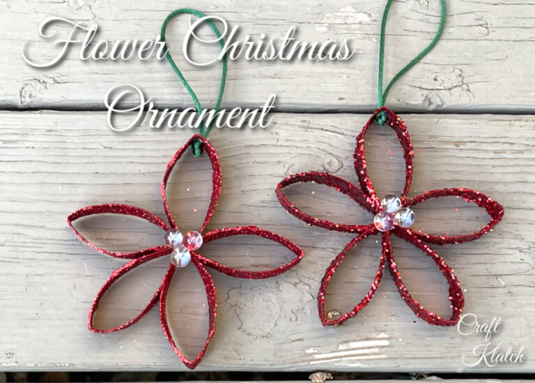 DIY Christmas Flower Ornament