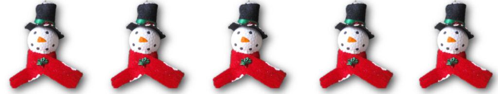 Golf Ball Snowman Christmas Tree Ornament