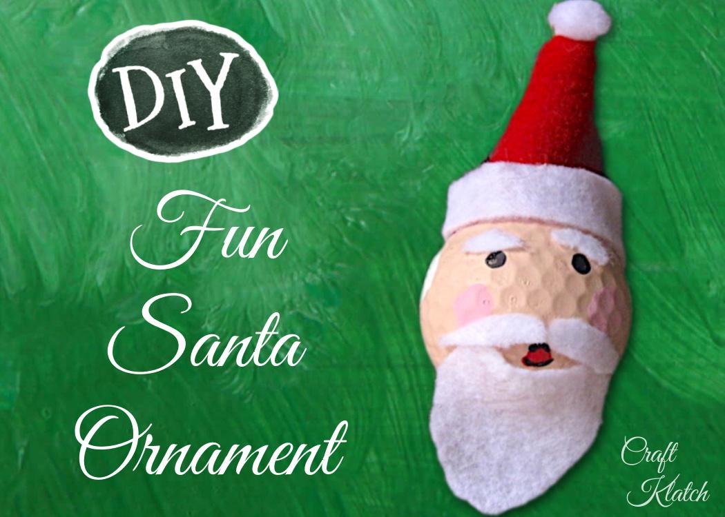 Fun Santa Golf ball ornament