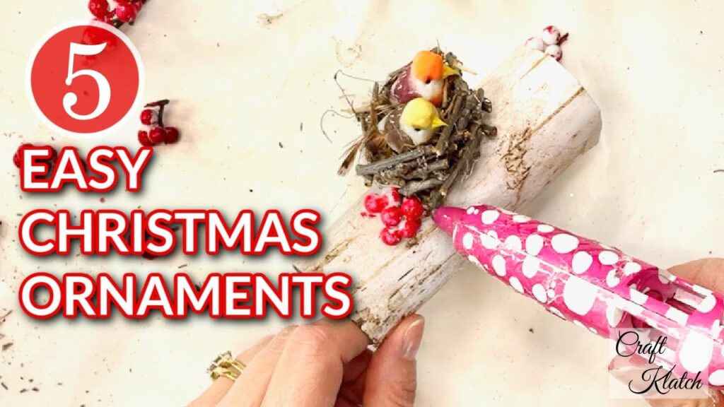 5 Easy Christmas ornaments made out of toilet paper rolls