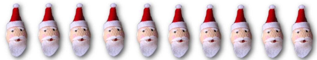 golf ball fun Santa banner