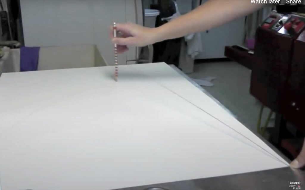 how to make a cone out of paper using a string, pencil and poster board