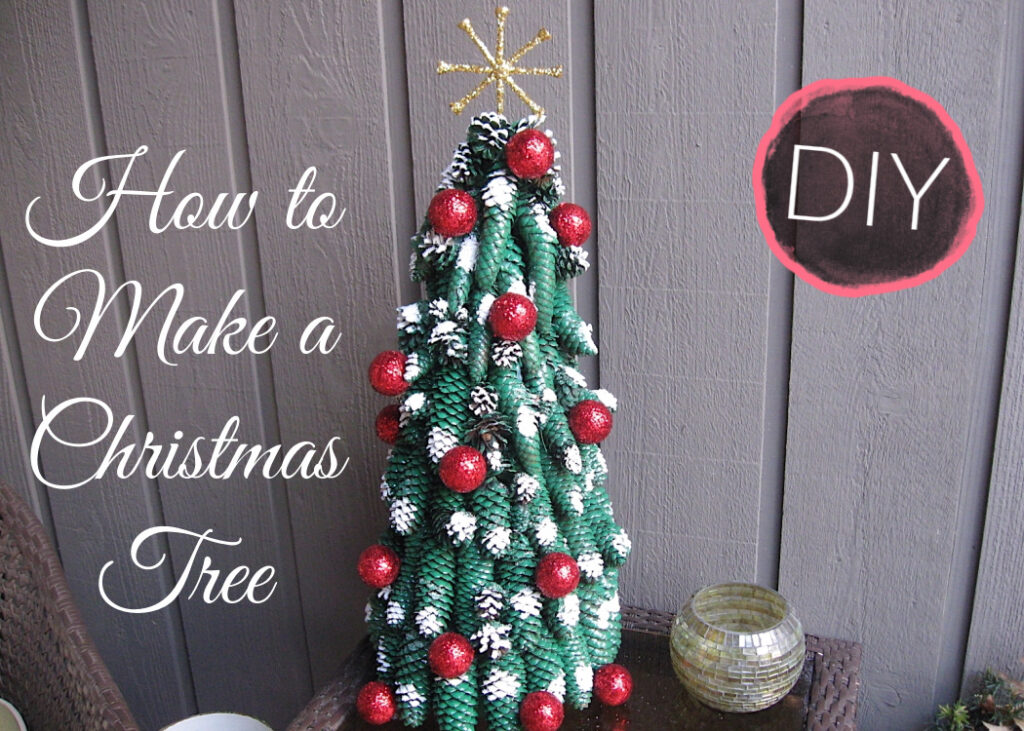 How to make a Christmas tree out of pine cones | Golf Ball Christmas Tree