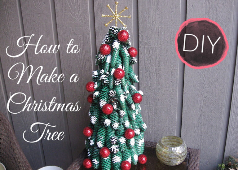 How to make a Christmas tree out of pine cones   Golf Ball Christmas Tree