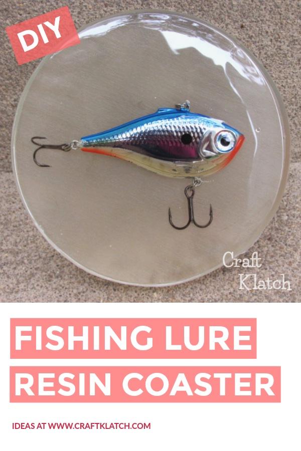 Fishing lure coaster DIY