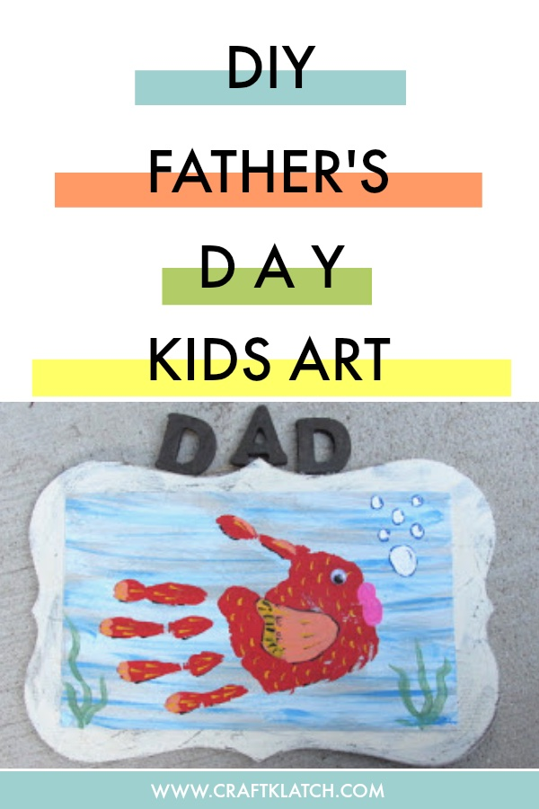 Handprint Fish art for Father's Day