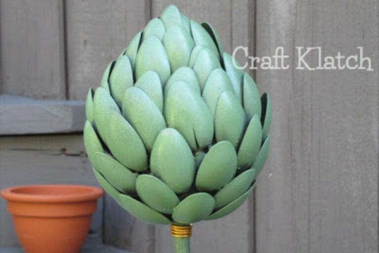 Green artichoke garden art