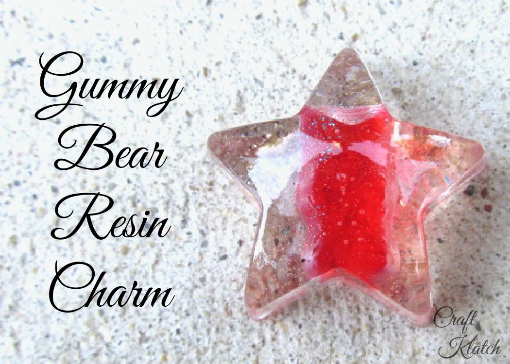 Red gummy bear resin charm
