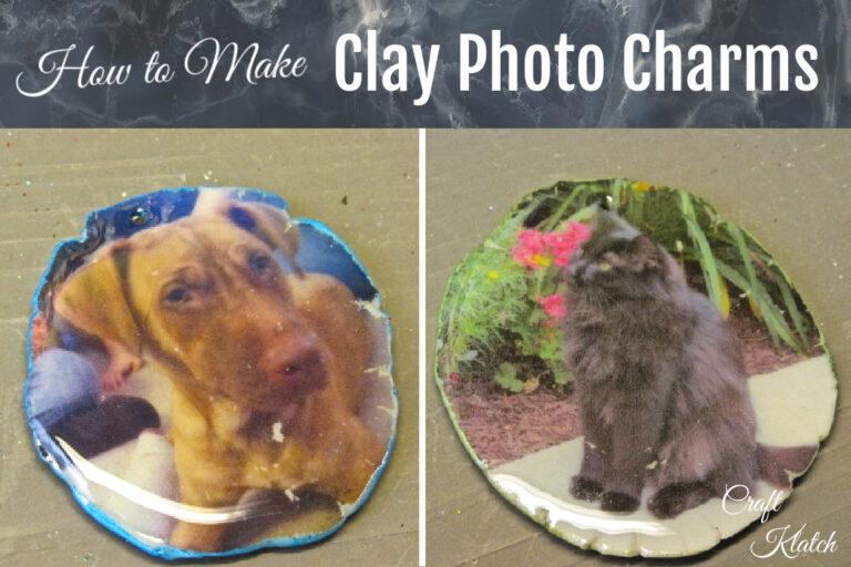 Pet photo transfer charms