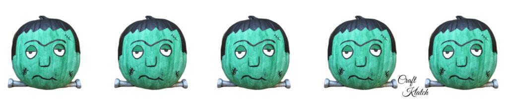 Frankenstein painted pumpkin banner
