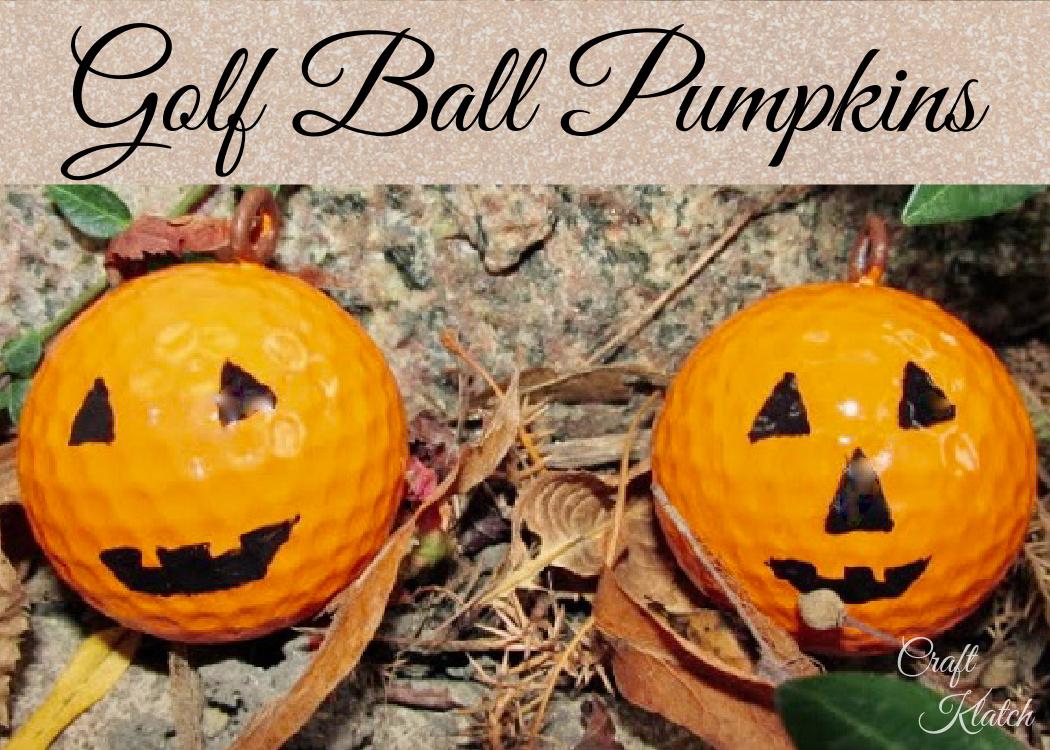 golf ball pumpkin craft