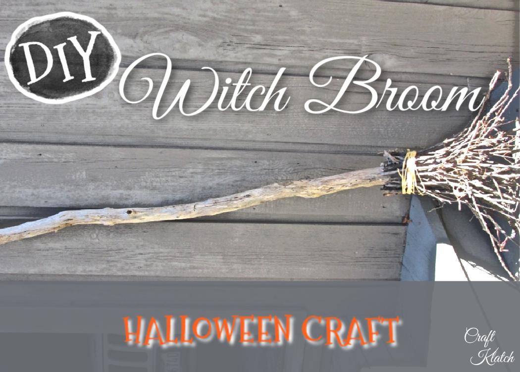 Handmade witch's broom
