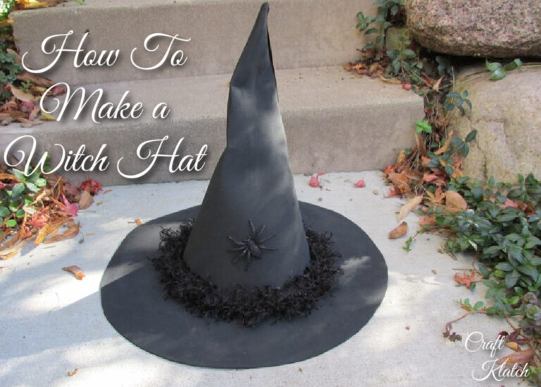 How to make a witch hat