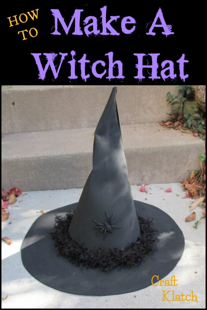 black witch hat craft pinterest image