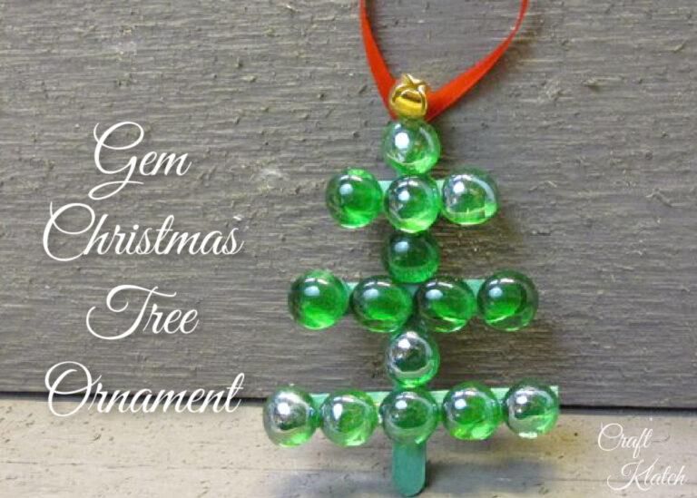 Green glass Christmas tree ornament