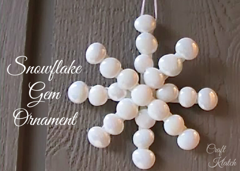 White snowflake gem ornament