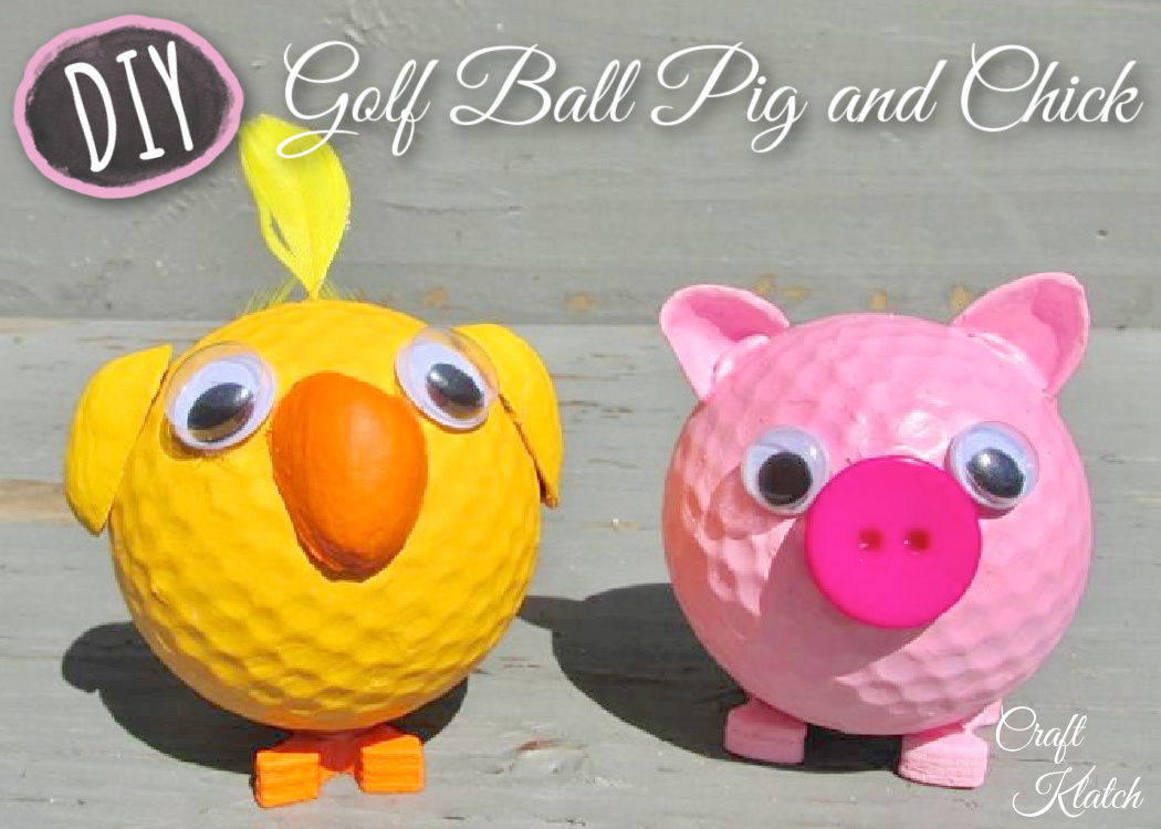 Golf ball pig and chick