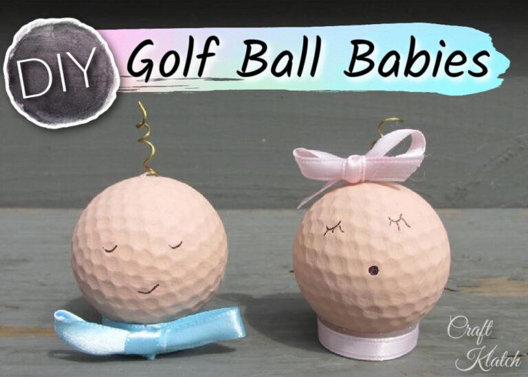 Baby shower idea golf ball babies