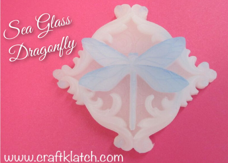 Faux Sea glass dragonfly