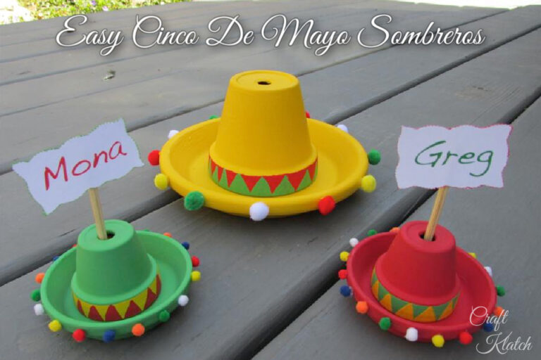 Easy Cinco De Mayo sombreros craft project