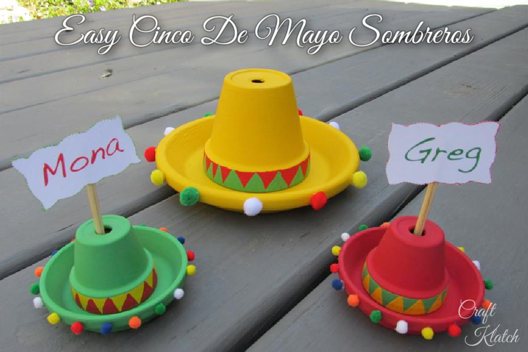 Easy Cinco De Mayo sombreros craft project