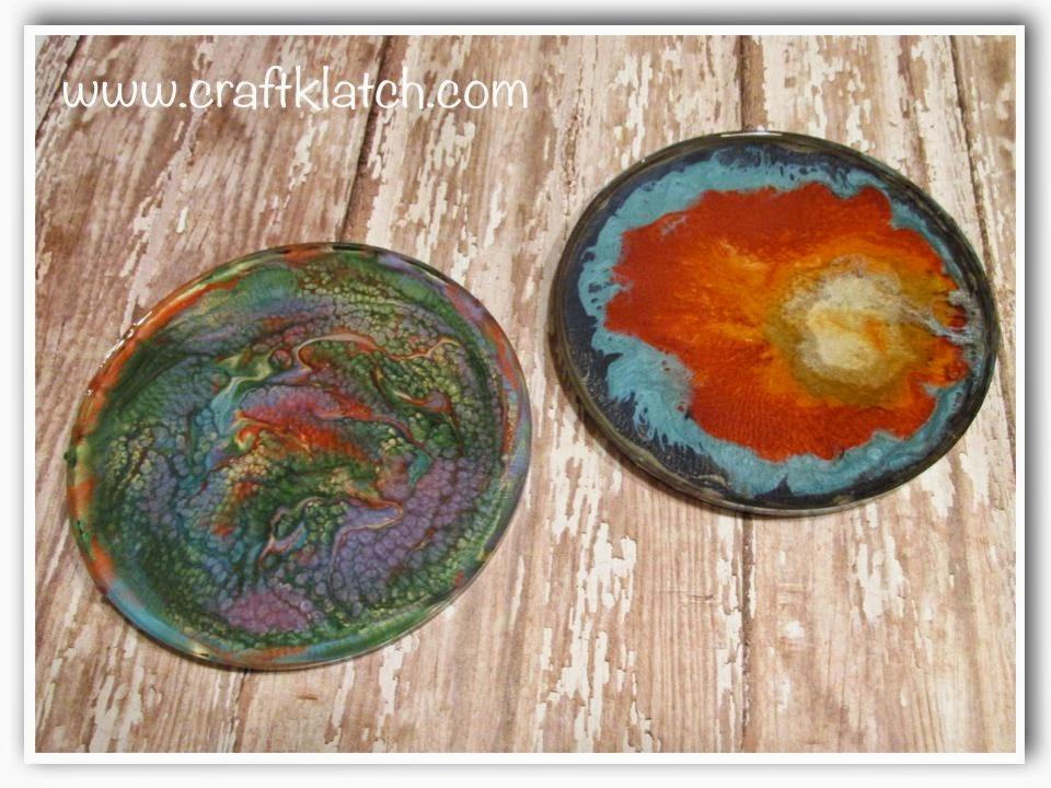 Diy Pebeo Prisme Moon Paints Another Coaster Friday Craft Klatch
