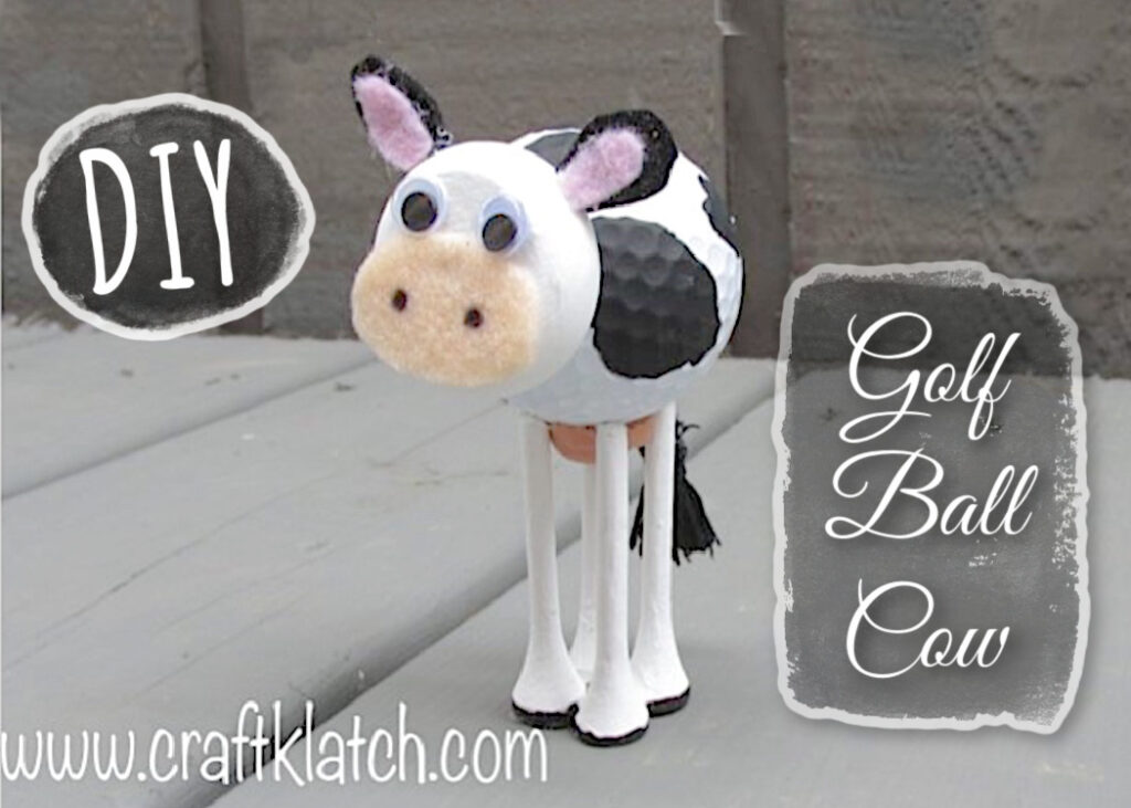 golf ball cow craft
