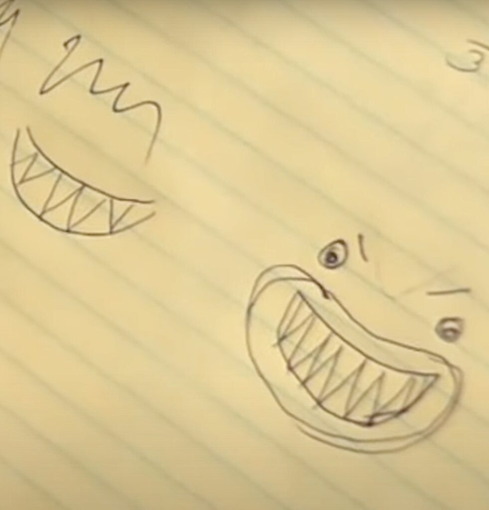 Before showing you how to make sharks, practice drawings for shark faces