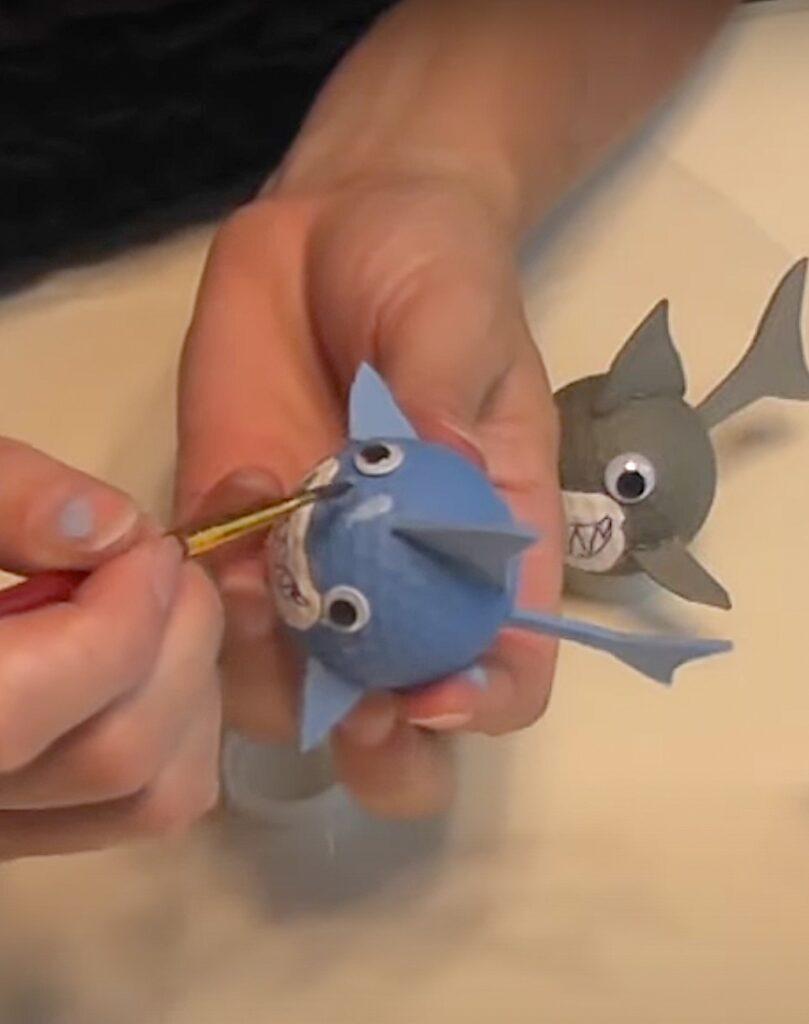 paint highlights on shark heads