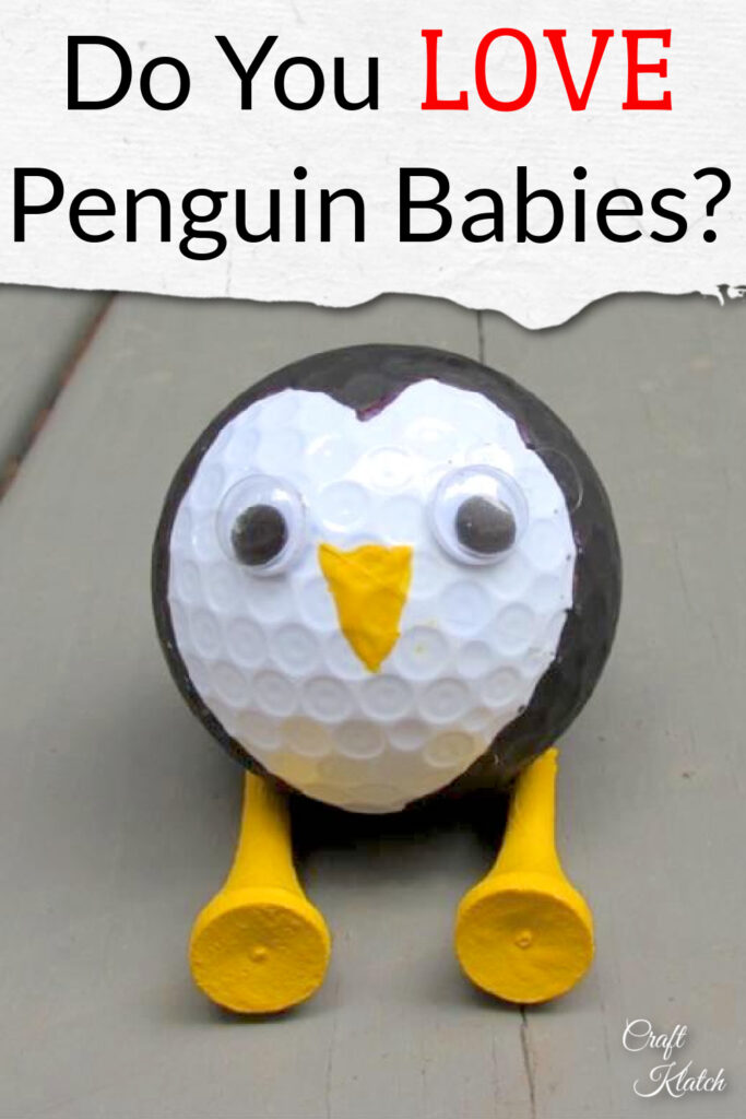 Penguin babies | penguin made out of a golf ball and golf tees