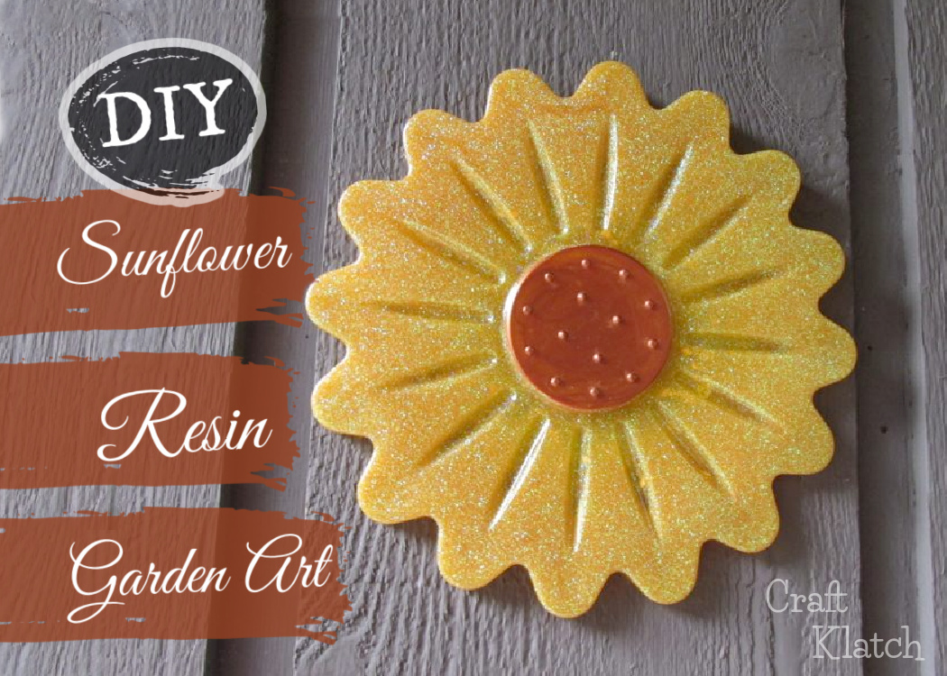 Resin sunflower yard art