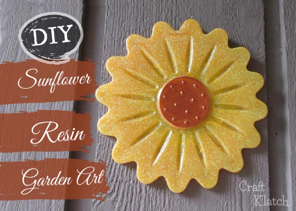 Sunflower resin garden art