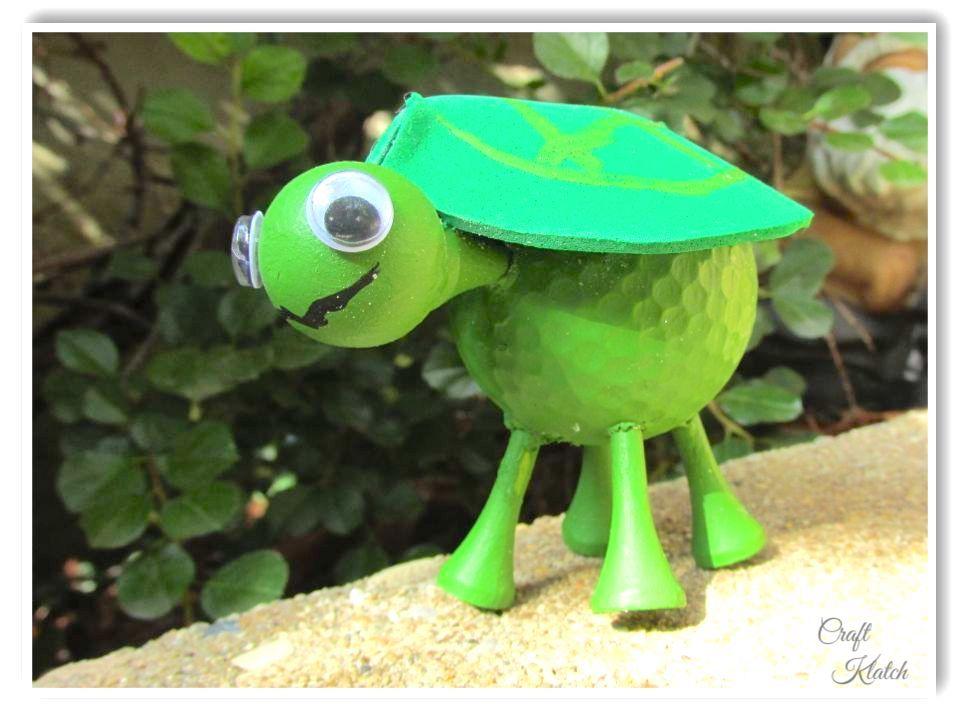 baby turtle golf ball craft