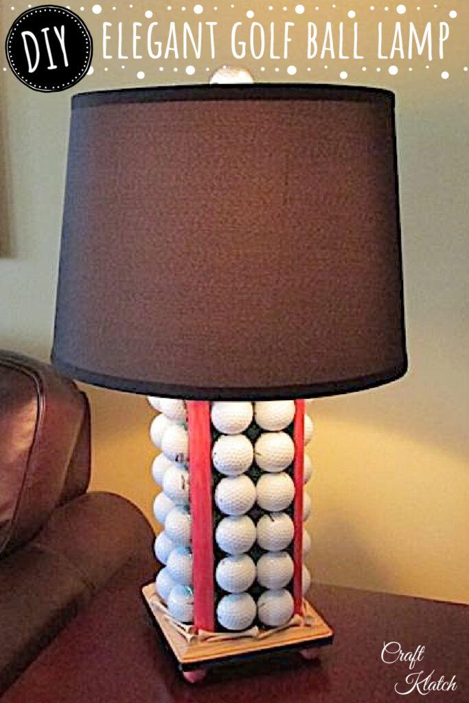 DIY golf ball lamp