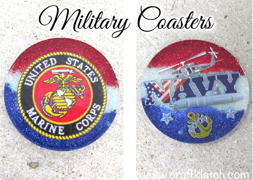 Military Coasters DIY