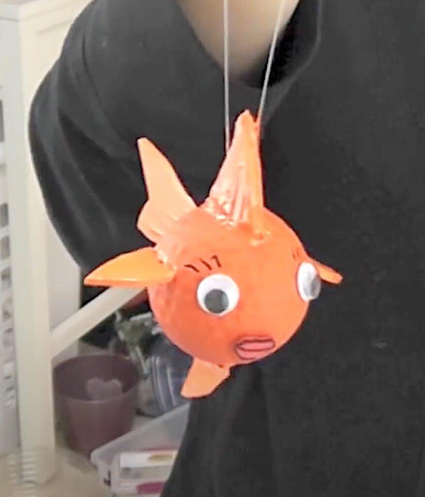 Finished golf ball goldfish craft diy