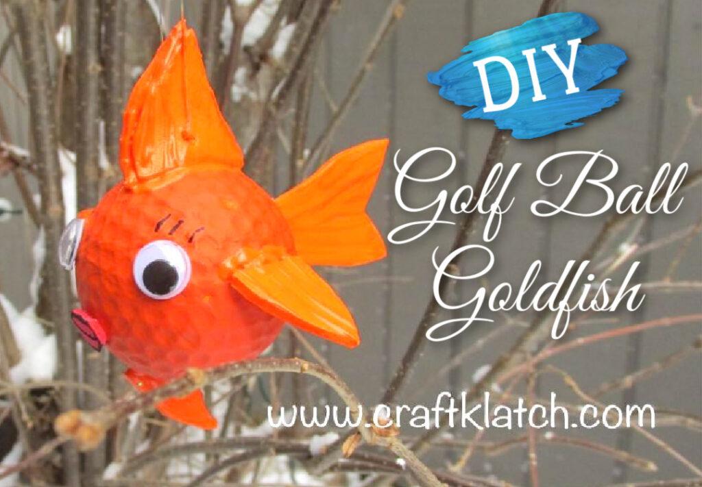 Gold ball goldfish diy
