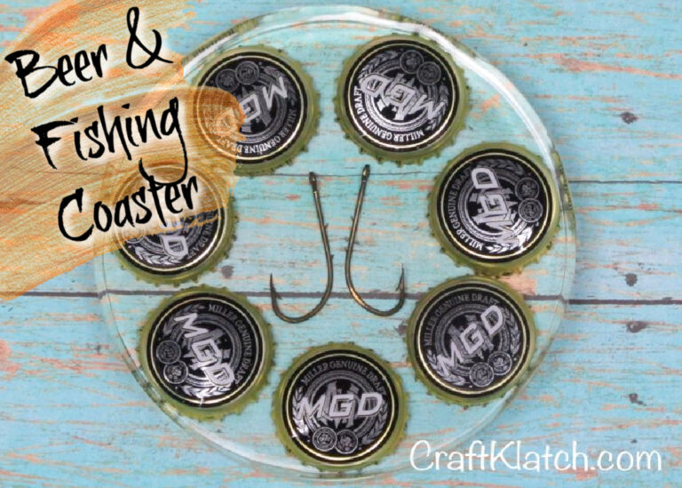 Beer and fishing Coaster DIY