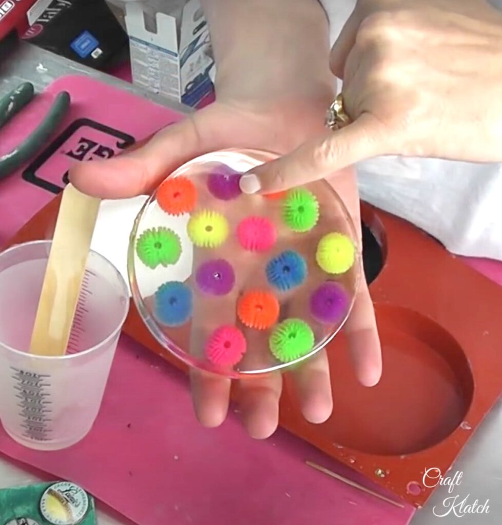 Koosh ball resin coaster reveal