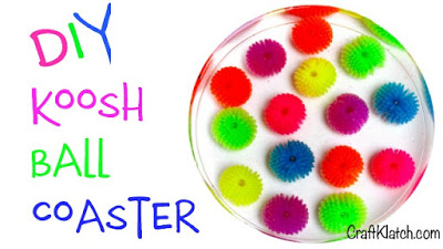 Splash of Color Koosh Ball Coaster Resin DIY
