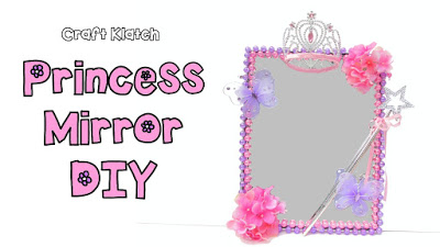 Diy Princess Mirror Room Decor Dollar Store Craft Klatch Collaboration With Mommy Crafts A Lot