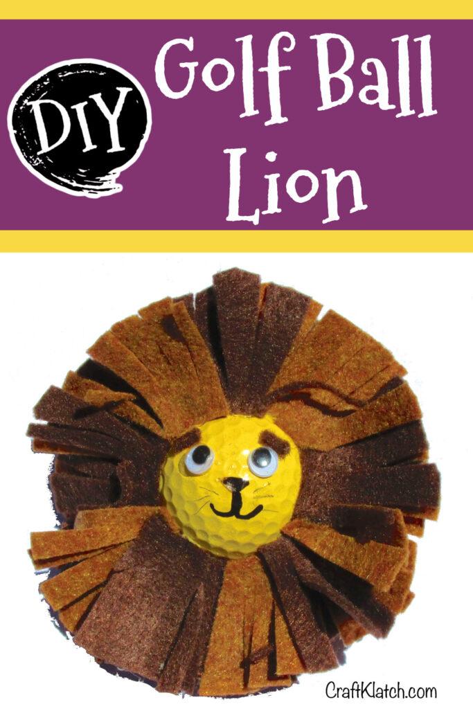 Golf ball lion craft
