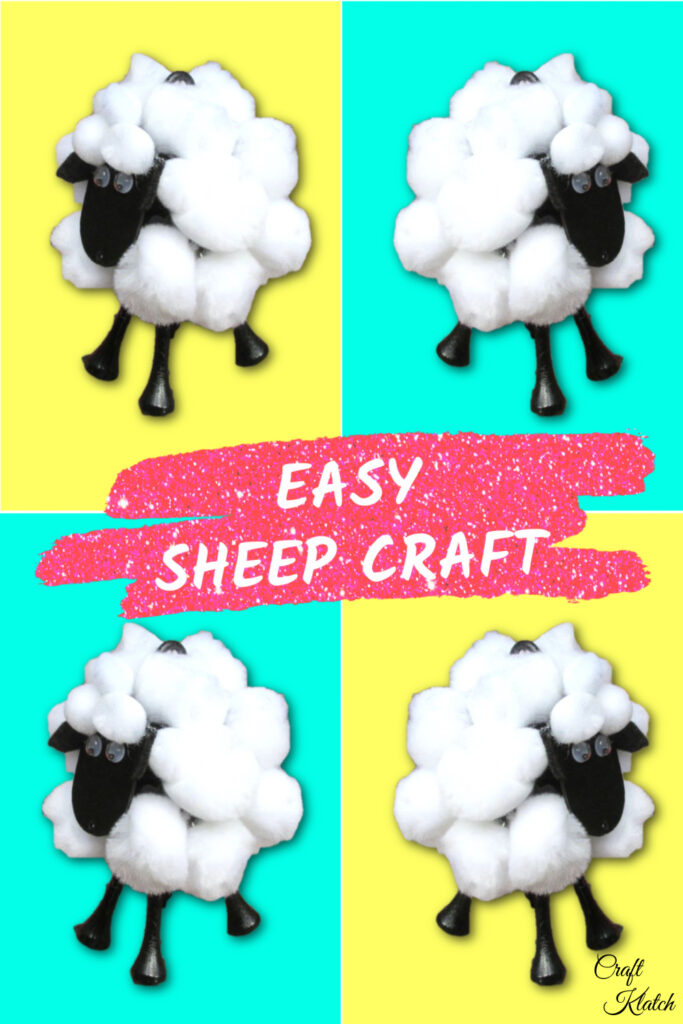 Golf ball sheep craft project