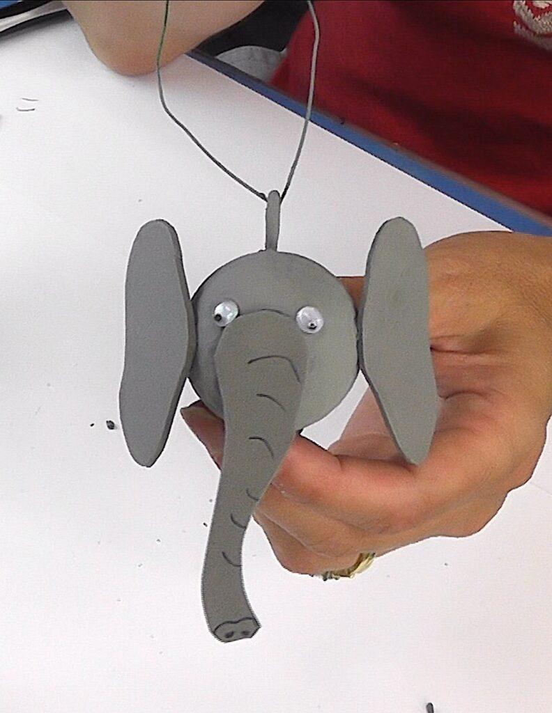 Finished golf ball elephant